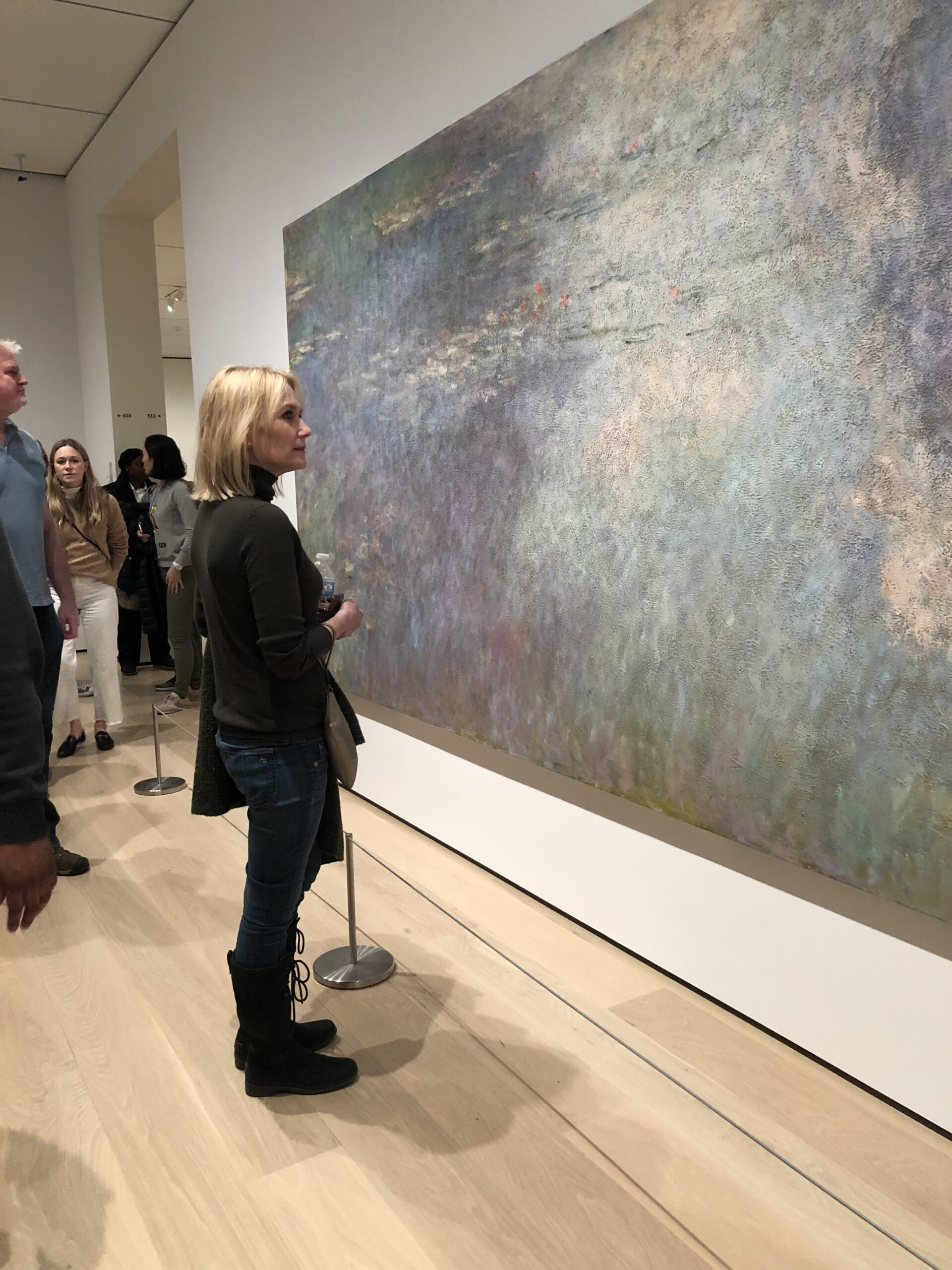 Catherine Hook Stylist looking at Waterlilies at MoMA